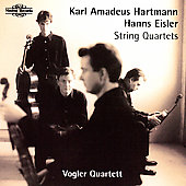 Hartmann, Eisler: String Quartets / Volger Qrt.
