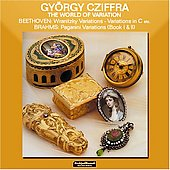 The WOrld of Variation - Beethoven, Brahms, Liszt / György Gziffra