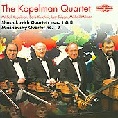 Shostakovich: String Quartets no 1 & 8;  Miaskovsky: String Quartet no 13 / Kopelman Quartet