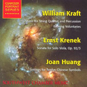 Kraft: Music for String Quartet and Percussion;  Krenek, Huang
