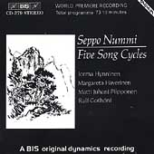 Nummi: Song Cycles / Haverinen, Piiponen, Hynninen