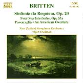 Britten: Sinfonia da Requiem, etc / Fredman, New Zealand SO