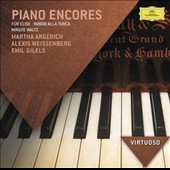 Piano Encores - Fur Elise; Rondo Alla Turca; Minute Waltz et al. / performed by Argerich, Weissenberg, Gilels