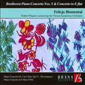 Beethoven: Piano Concerto No. 5; Piano Concerto in E flat (incomplete, Wo04) / Felicja Blumenthal, piano