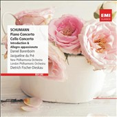 Schumann: Piano Concerto; Cello Concerto; Introduction & Allegro Appassionato / Daniel Barenboim, piano; Jacqueline du Pré, cello; Dietrich Fischer-Dieskau