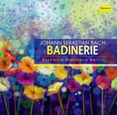 J.S. Bach for Three Recorders - 'Badinerie' - arrangements from assorted keyboard, choral, chamber & orchestral works for recorders / Irmhild Beutler, Martin Ripper & Sylvia Corinna Rosin, recorders