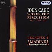 Cage: Works for Percussion Vol 1 / Amadinda Percussion Group