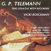Telemann: Trio Sonatas with Recorder / Boeckmann, et al