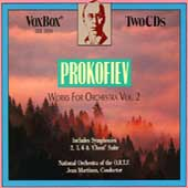 Prokofiev: Works for Orchestra Vol II / Jean Martinon