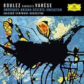 Var&#233;se: Am&#233;riques, Ionisation, etc / Boulez, Chicago SO