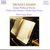Mendelssohn: Songs Without Words Vol. 1