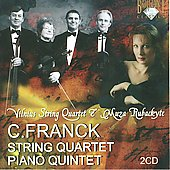 Franck: String Quartet, Piano Quintet / Rubackyt&eacute;, Vilnius String Quartet