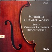 Schubert Chamber Works / Busch Chamber Ensembles, Rudolf Serkin