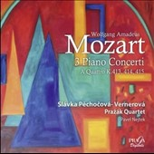 Mozart: Piano Concertos K413, 414, 415 with string quintet accompaniment / Slávka Pechoková-Vernerová, piano; Pavel Nejtek, double bass