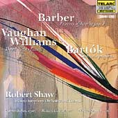Barber, Bart&oacute;k, Vaughan Williams / Shaw, Atlanta SO & Chorus