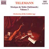 Telemann: Musique de table [Tafelmusik] Vol 3 / Golden Age
