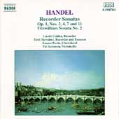 Handel: Recorder Sonatas / L&aacute;szl&oacute; Czidra, Zsolt Hars&aacute;nyi