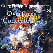 Telemann: Overtures, Sonatas, etc Vol 4 / Musica Alta Ripa