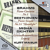 Brahms: Piano Concerto No 1;  Beethoven: Piano Sonata No 14