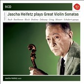 Jascha Heifetz plays Great Violin Sonatas - by Bach, Mozart, Beethoven, Brahms, Schubert, Bloch, Debussy, Grieg et al. / Emanuel Bay, piano [9 CDs]
