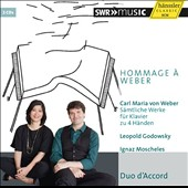 Hommage a Weber - Music for piano 4-hands by Weber, Godowsky and Moscheles / Lucia Huang and Sebastian Euler, pianos