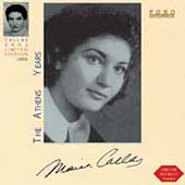 Callas - The Athens Years / Mugnai, Picco, de Fabritiis, etc