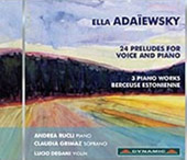 Ella Adaïewsky: 24 Preludes for Voice and Piano