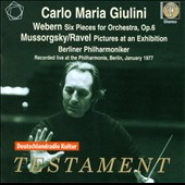 Webern: Six Pieces for Orchestra; Ravel: Pictures at an Exhibition / Giulini - Berlin PO, 1977