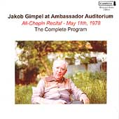 Jakob Gimpel at Ambassador Auditorium - All Chopin Recital