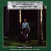 Edwin Barker plays Three Sonatas for Double Bass