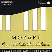Mozart: Complete Solo Piano Music Vol 10 / Ronald Brautigam