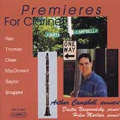 Premieres for Clarinet - MacDonald, et al / Campbell, et al