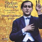 Wolpe: Compositions for Piano (1920-1952) / David Holzman