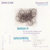 John Cage Edition Vol 30 - Variations I-III, etc