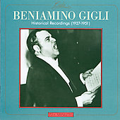 Beniamino Gigli - Historical Recordings 1927-1951