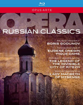 Russian Opera Classics - Mussorgsky: Boris Godunov; Tchaikovsky: Eugene Onegin; Pique Dame; Rimisky-Korsakov: Legend of the Invisible City of Kitezh; Shostakovich: Lady Macbeth of Mtsensk [6 Blu-ray]