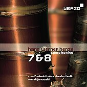 Henze: Symphonies no 7 and 8 / Janowski, Berlin Radio SO