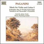 Paganini: Music for Violin & Guitar Vol 1 / St John, Wynberg