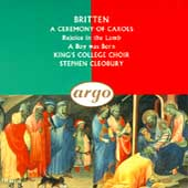 Britten: A Ceremony of Carols, etc / King's College Choir