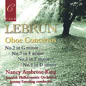 Lebrun: Oboe Concertos / King, Swerling, Janacek PO