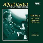 Alfred Cortot - The Late Recordings Vol 2