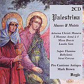 Palestrina: Masses & Motets / Brown, Pro Cantione Antiqua