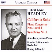 Headley: California Suite, Piano Concertos no 1 & 2, etc