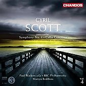 Scott: Concerto for Cello, Symphony no 1 / Watkins, Brabbins