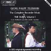 Telemann: Complete Recorder Duets Vol 1 / Pehrsson, Laurin