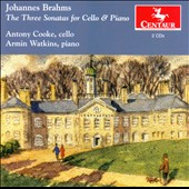 Johannes Brahms: The 3 Sonatas for Cello & Piano / Antony Cooke, cello; Armin Watlins, piano
