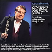 Boston Symphony's Wayne Rapier Oboe Recital