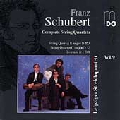 Schubert: Complete String Quartets Vol 9 / Leipzig Quartet