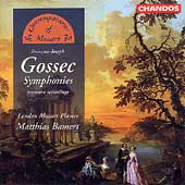 Gossec: Symphonies / Bamert, London Mozart Players