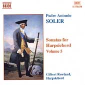 Soler: Sonatas for Harpsichord Vol 5 / Gilbert Rowland